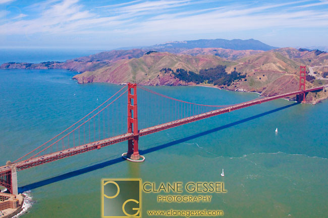 san francisco aerial photos, golden gate bridge aerial photos