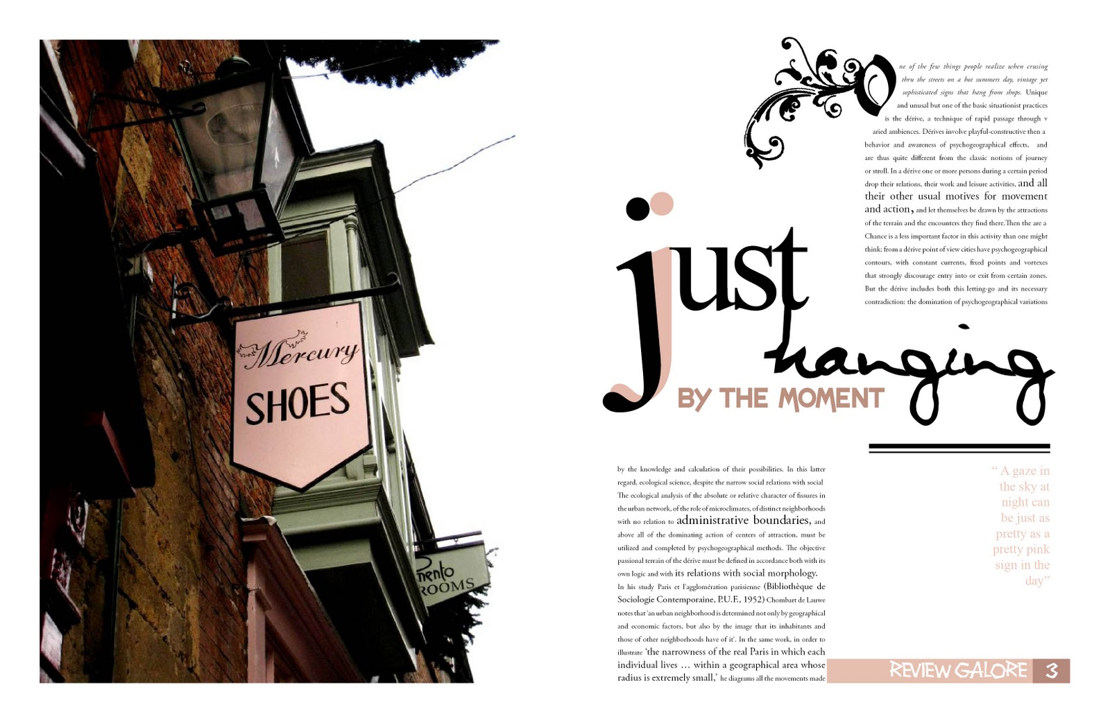 She set the bar magazine layouts for Designs magazine
