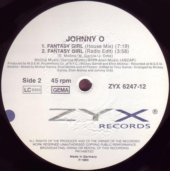 Johnny O - Fantasy Girl (Maxi 88')
