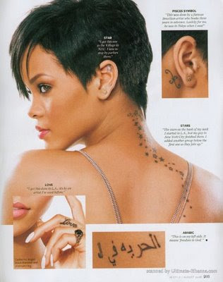 Rihanna Tattoos on G3 Designs   Tattoo Art Artist Tattoo