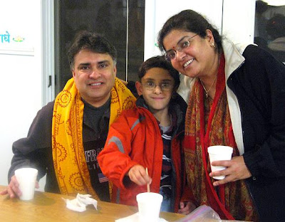 Family at Barsana Dham Ashram Austin