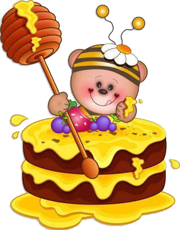 Clipart Of Honey Cake : Monta seu Convite