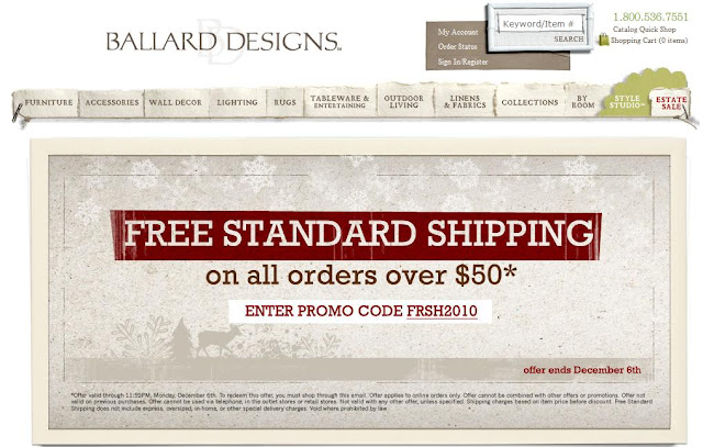 Ballard designs coupon code 2018