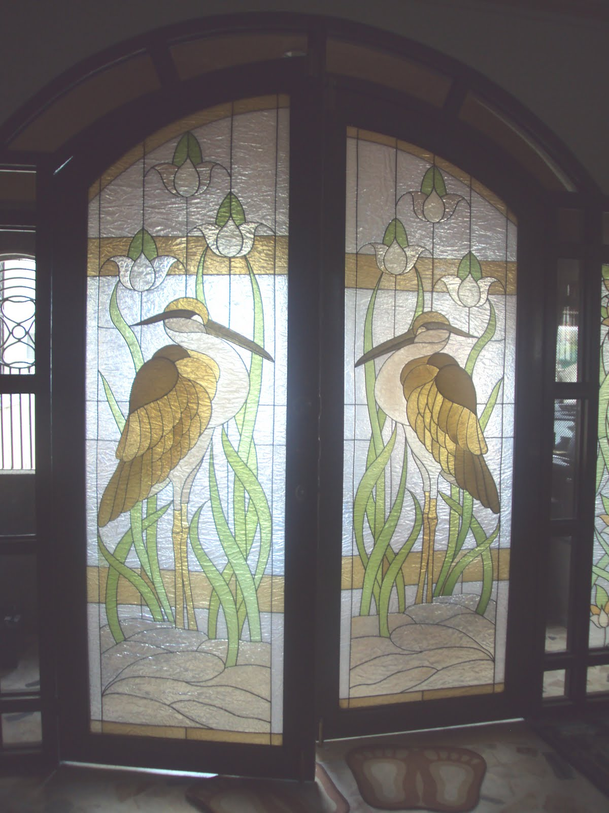 1600 #80724B  Wall Decors Philippines: Stained Glass (Fiberglass) Door Stork image Stainable Fiberglass Entry Doors 40231200