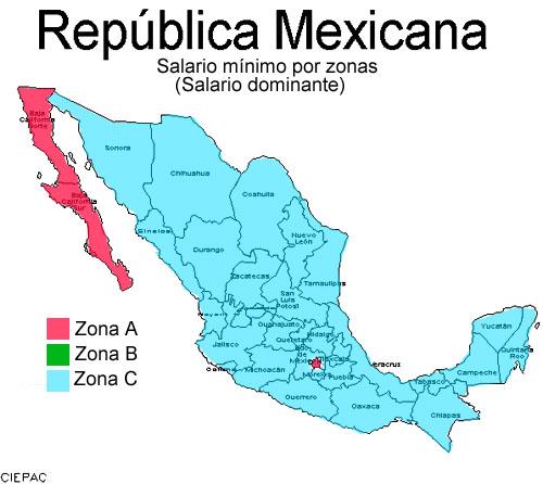 Salarios Minimos Por Zonas Economicas En Mexico