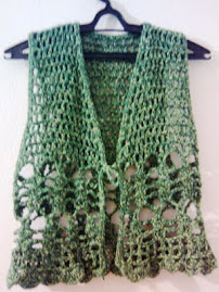 coletinho de crochê  verde do 38 ao 42