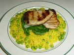 Beef on Yellow Rice with green peas