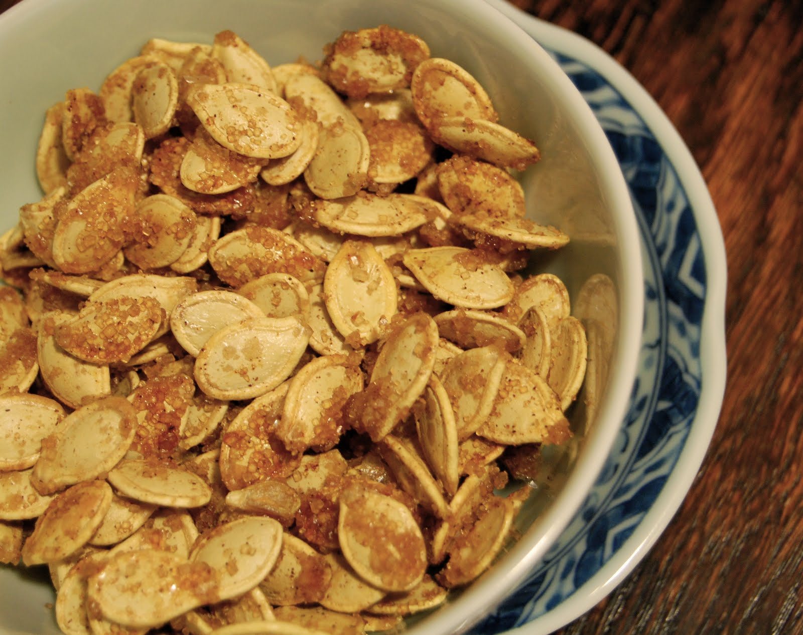 Paper Wings: Caramelized Spicy Pumpkin Seeds