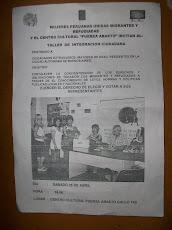 MPUMR. ORGANIZA: TALLER INTEGRACION  CIUADANA