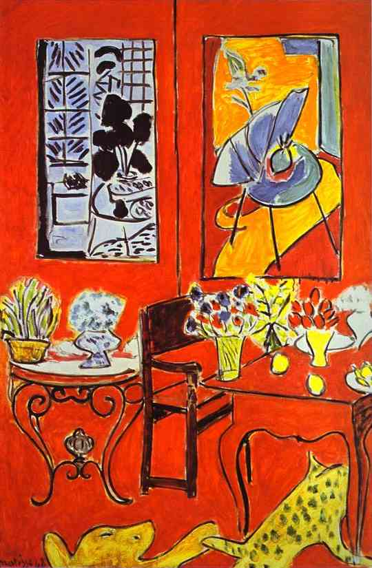 It 39 s about time interiors henri matisse 1869 1954 for Interieur rouge matisse