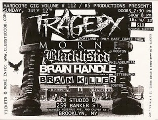 Tragedy/Morne flyer
