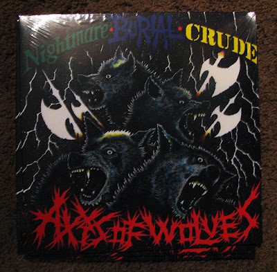 Nightmare/Crude/Burial - Axis Of Wolves split LP