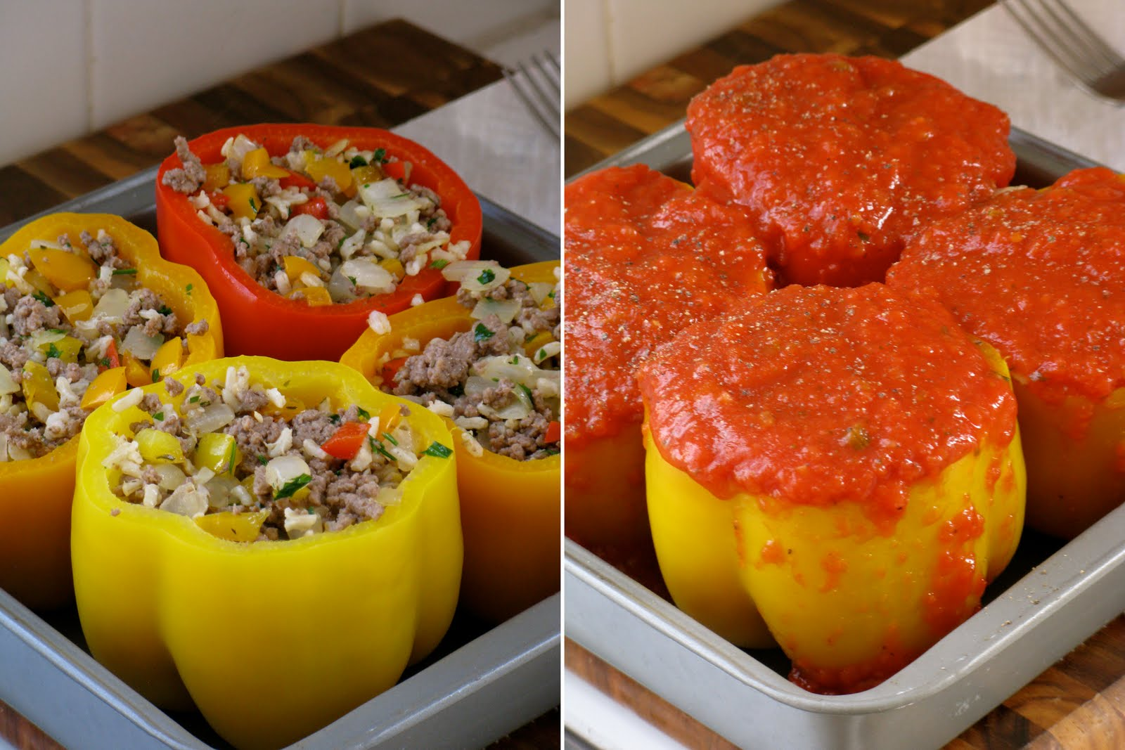 The cilantropist classic stuffed peppers