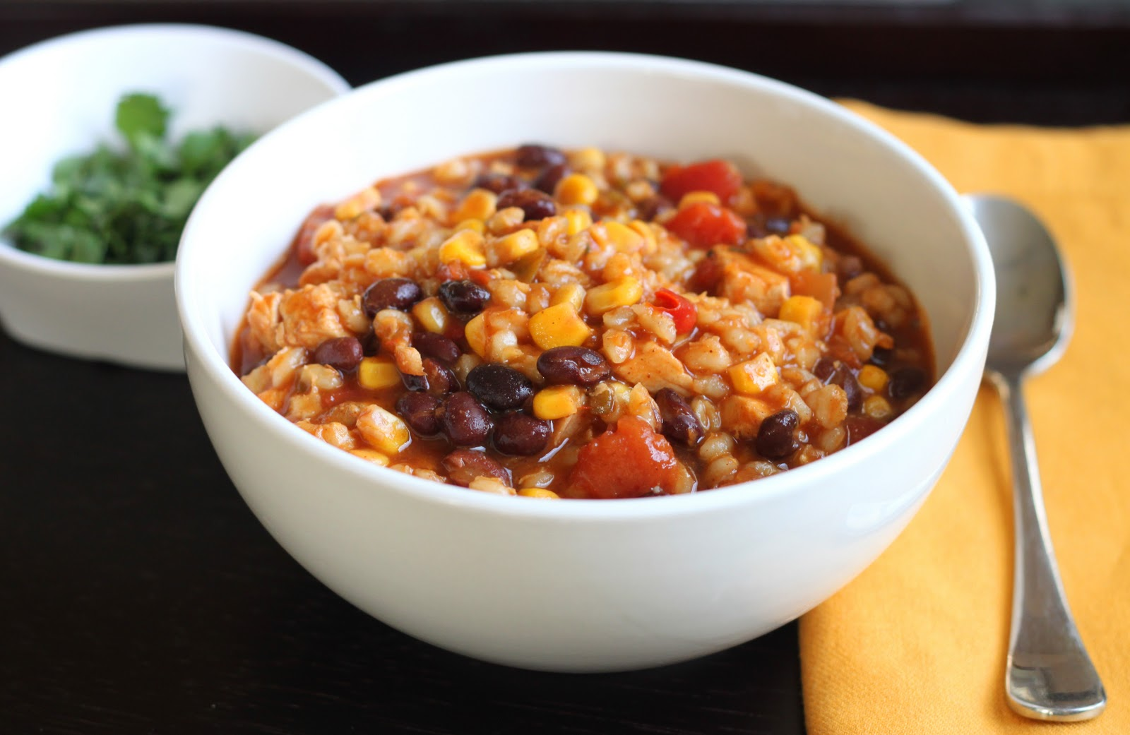 The CilantropistMy Moms Easiest Chicken Barley Chili