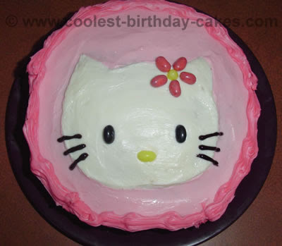 how to make a hello kitty birthday cake