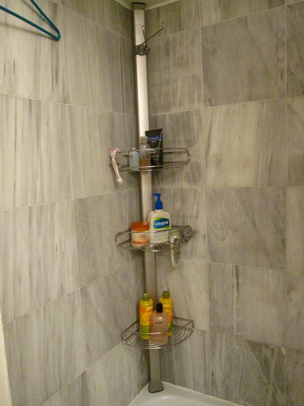 tension pole shower caddy instructions