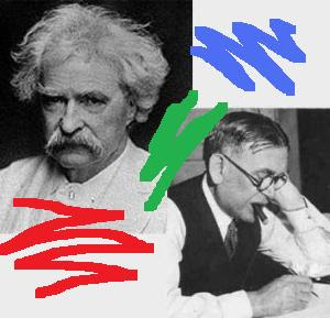 Mark Twain and H.L. Mencken