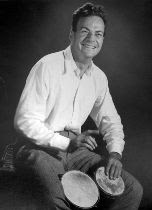 Richard Feynman playing the bongos