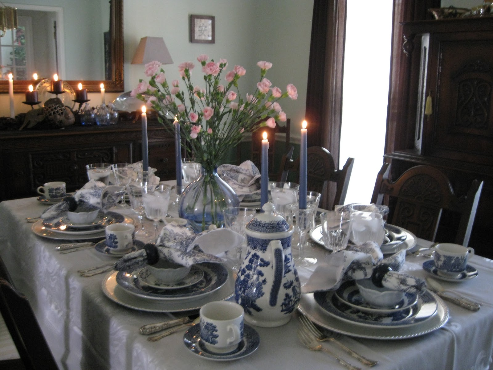 tablescapes by diane blue willow tablescapes