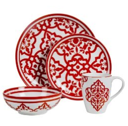 ... reminded me very much of the red Balcons Du Guadalquivir Hermes dinnerware Iu0027ve been loving for a whileu2026 TARGETu2013 (left) 16 piece set for $49.99.  sc 1 st  Elements of Style Blog & Hermes vs. Target - Elements of Style Blog