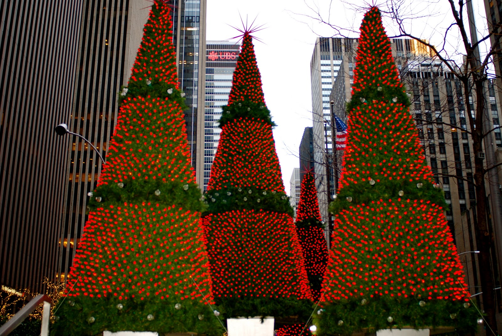 nyc nyc christmas holiday decorations on sixth avenue - New York Christmas Decorations
