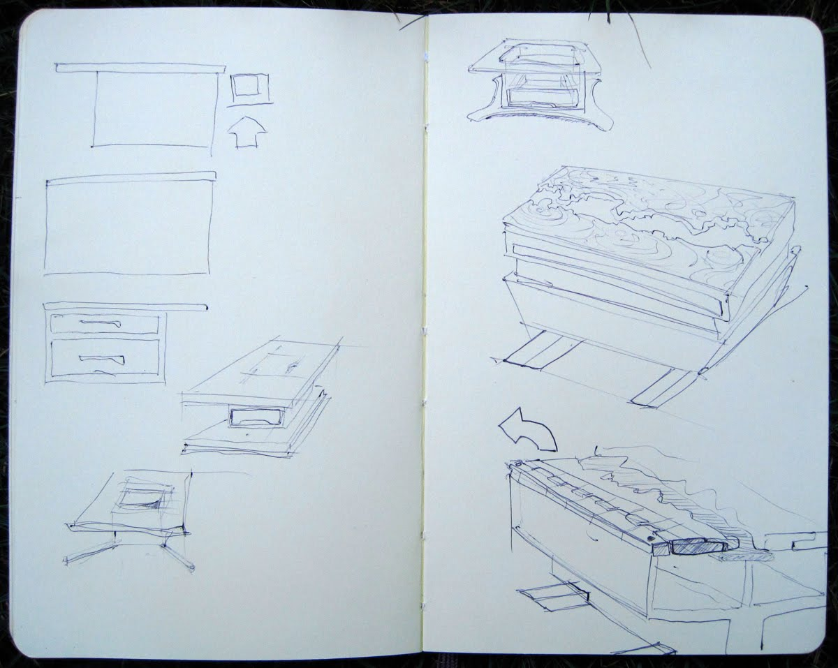 An alternative view of change coffee table sketches i sketched the concept a bit at home geotapseo Gallery