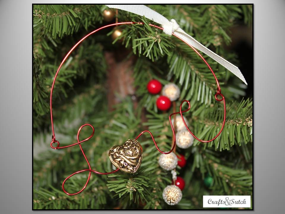 wire word ornaments by erin at crafts sutch ornament no 10