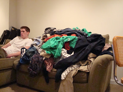 piles of dirty laundry