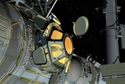 Mirador panorámico en la Estación Espacial Internacional