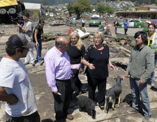 La presidenta de Chile en Concepción. REUTERS