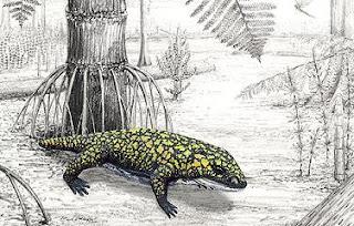 Reconstrucción de 'Fedexia striegeli'. Mark A. Klingler / Carnegie Museum of Natural History