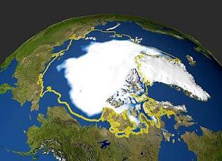 Hielo ártico se redujo por cambios en el viento