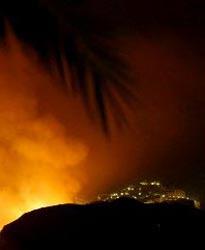 Mojácar rodeado por el incendio