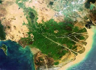 Las aguas sumergirán un tercio del delta del Mekong