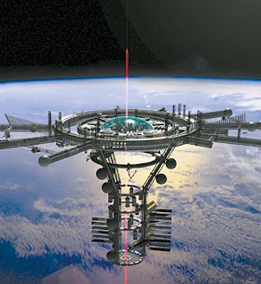 Un ascensor espacial con energía inalámbrica