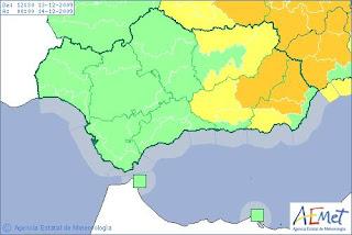 Meteorología activa la alerta naranja en Almería por riesgo de nevadas
