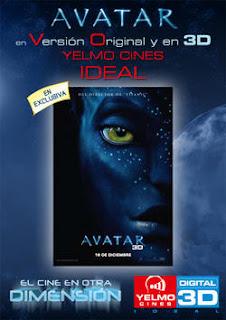 Avatar sólo se proyectará en Madrid y Cataluña en 3D y V.O.S. en los Yelmo Cines