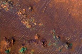 Detalle del área Nili Fossae en Marte. NASA