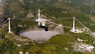 Radiotelescopio gigante en Arecibo (Puerto Rico). NAIC