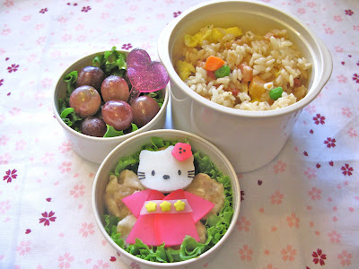 I packed her lunch in the Zojirushi mini thermal lunch box which I just love