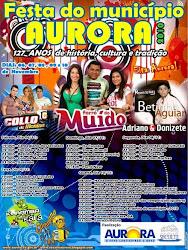 VEM AÍ DE 06 A 10 DE NOVEMBRO A FESTA DOS 127 ANOS DE AURORA