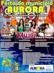 FESTA DO MUNICÍPIO DE AURORA DE 06 A 10 DE NOVEMBRO...