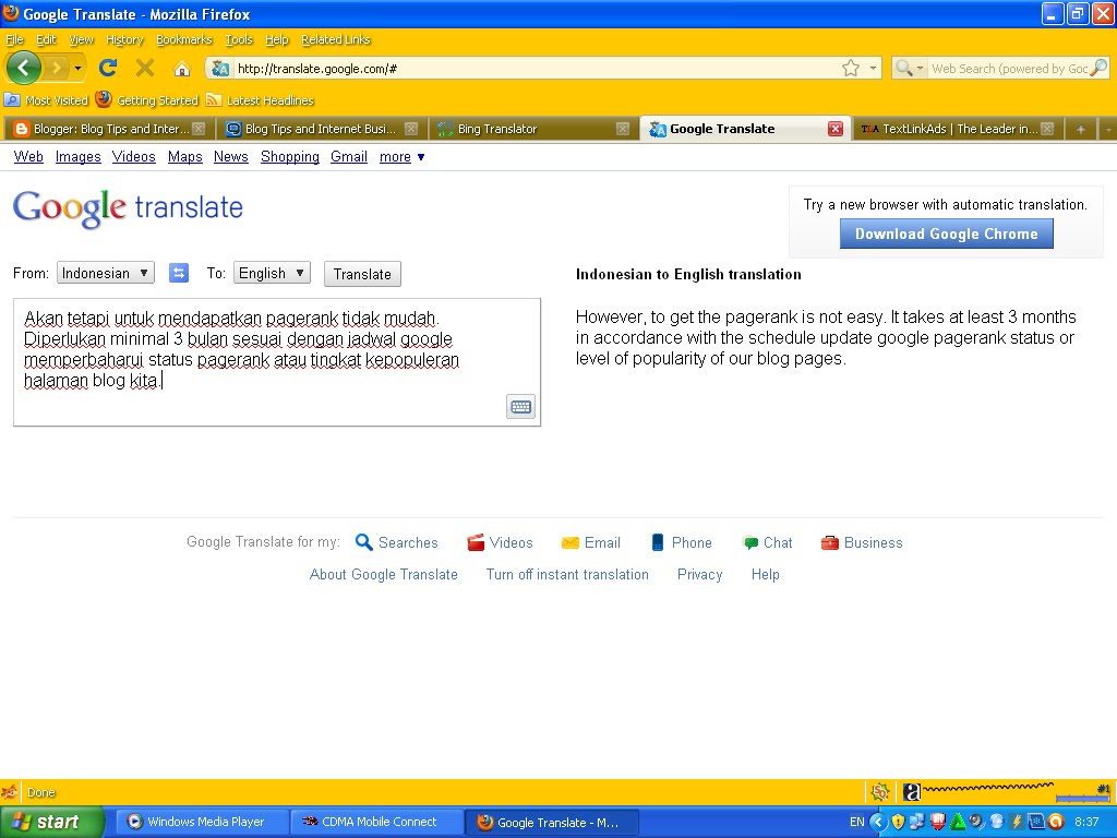 Google translate english to italian - 15b8f