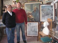 Con Eliseo Esteve, gran pintor.