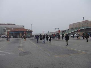 Venice autobus station , Piazzale Roma , during a strike