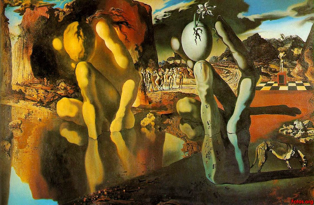 (The Metamorphosis of Narcissus - Salvador Dali - 1937)