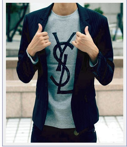 Dtailoriented dtail 39 s deal ysl long sleeve t shirt for Ysl logo tee shirt