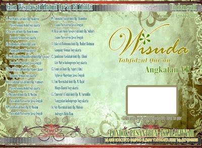 Desain Undangan Acara Wisuda Tahfidzul Qur'an 2009