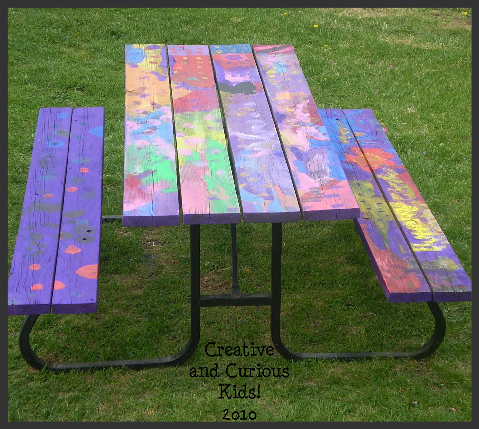 Creative And Curious Kids Wordless Wednesday Creative Picnic Table - Picnic table paint colors