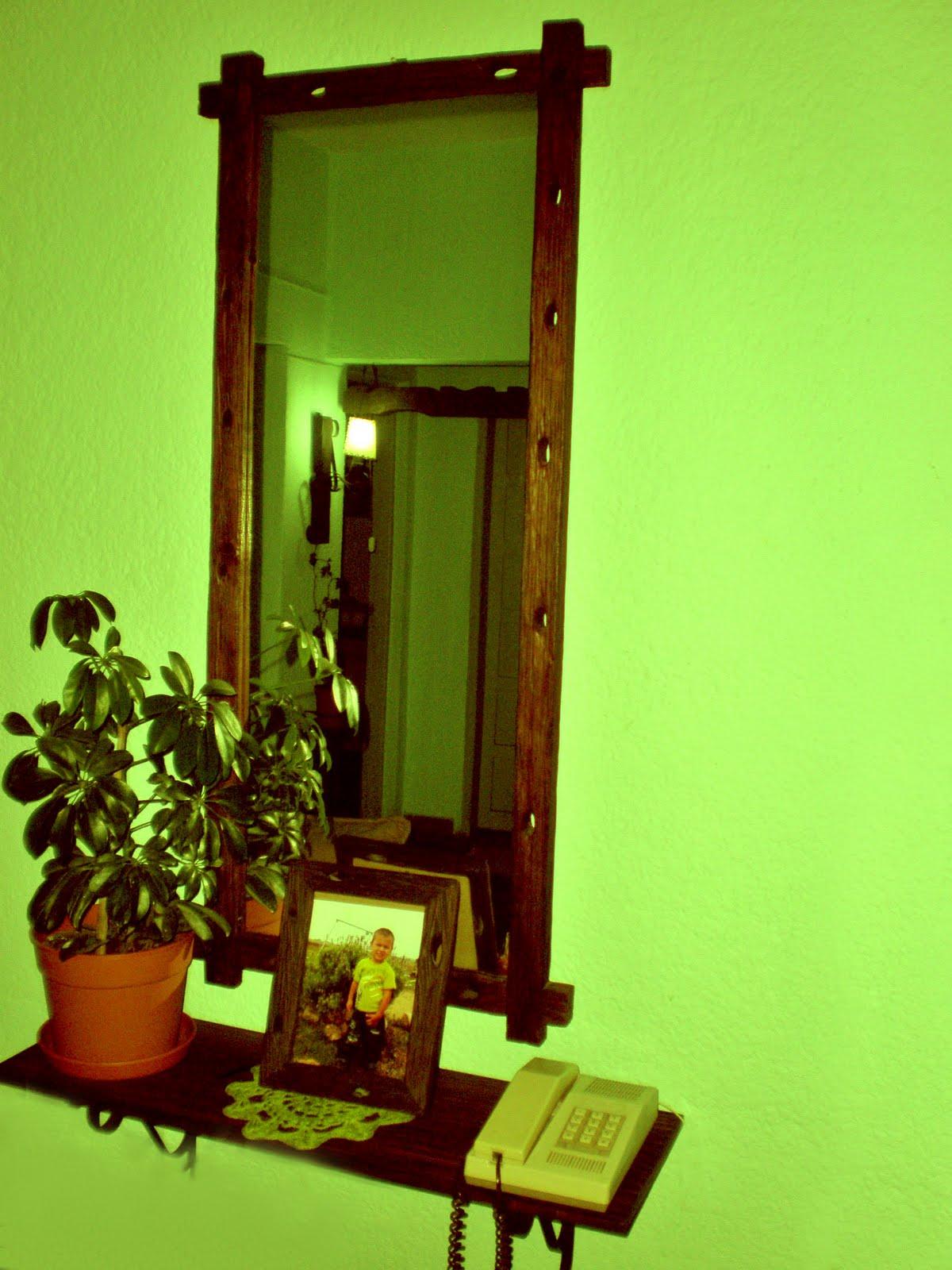 Artesanias rusticas en piques - Pared decorada con fotos ...